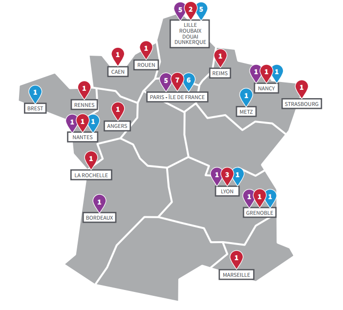 Carte établissements